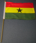 Ghana Country Hand Flag - Medium (stitched).
